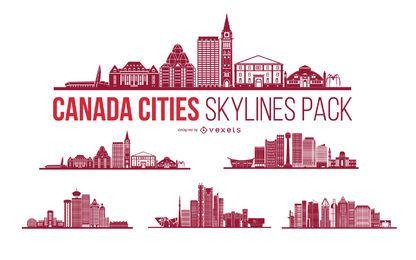 Pacote do horizonte da cidade do Canadá