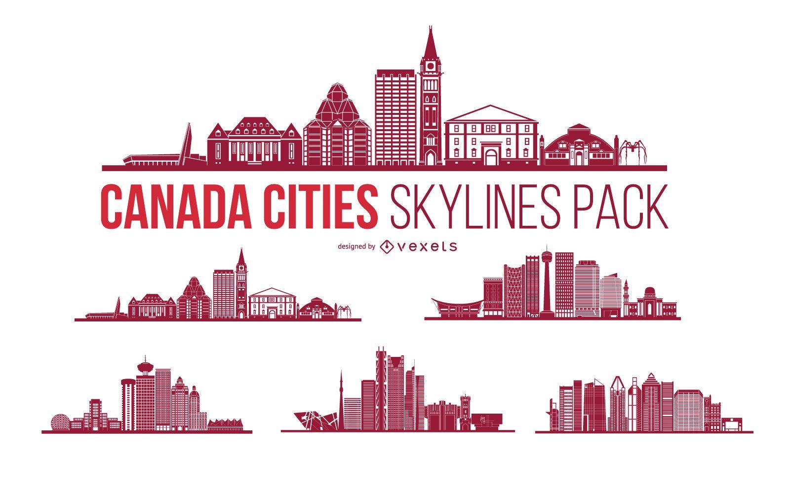 Canada City Skyline Pack