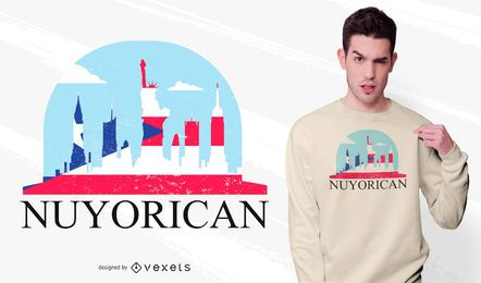 New York Puerto Rico T-shirt Design