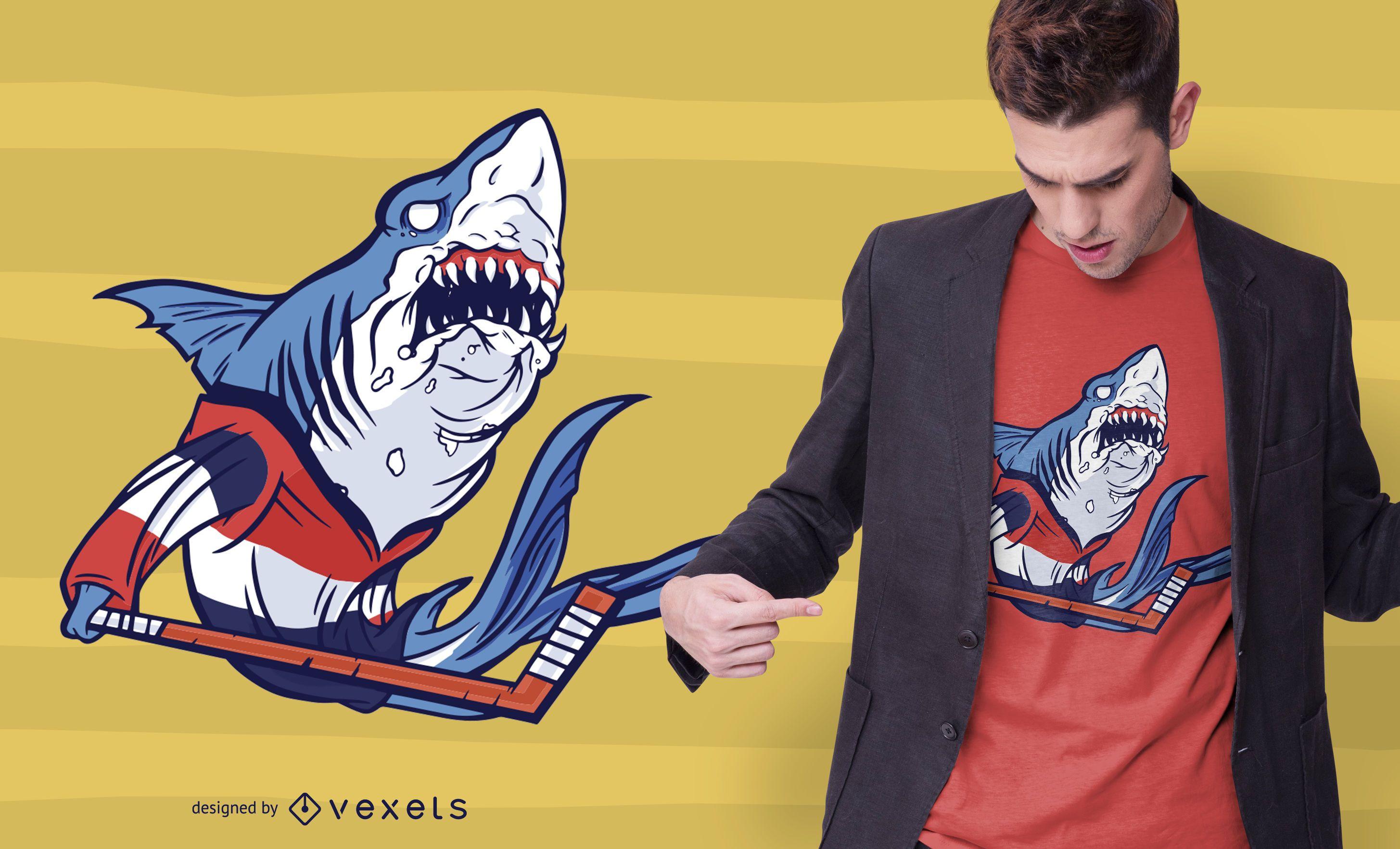 Hockey shark t-shirt design