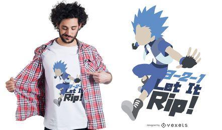 Design de t-shirt de citação de personagem de anime