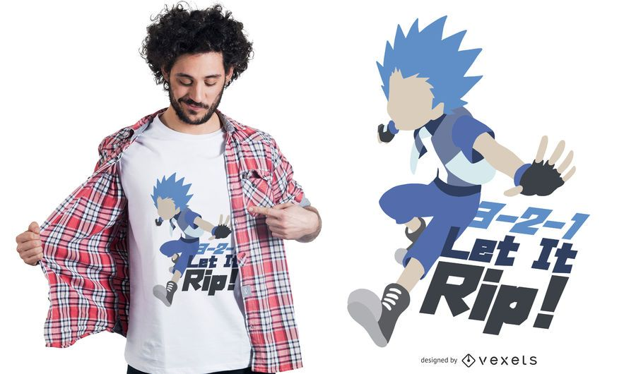 Anime Character Quote T-shirt Design