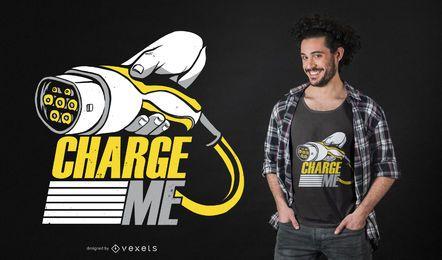Design de camiseta com citação de carro elétrico