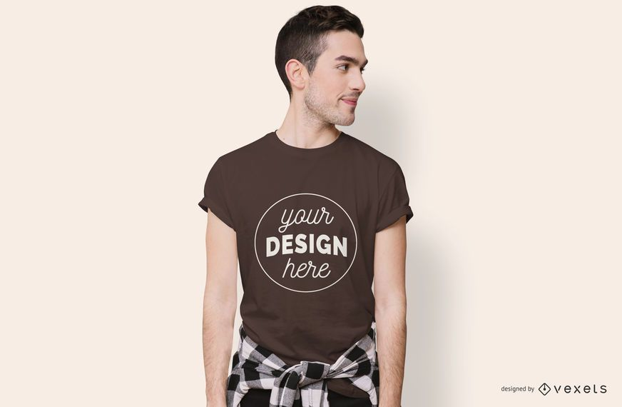 Boy Looking Sideways T-shirt Mockup