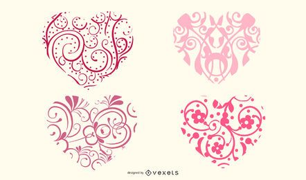Ornamental heart shapes