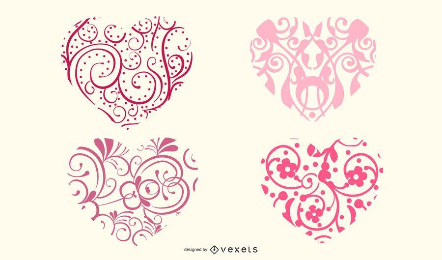 Formas ornamentales del corazon
