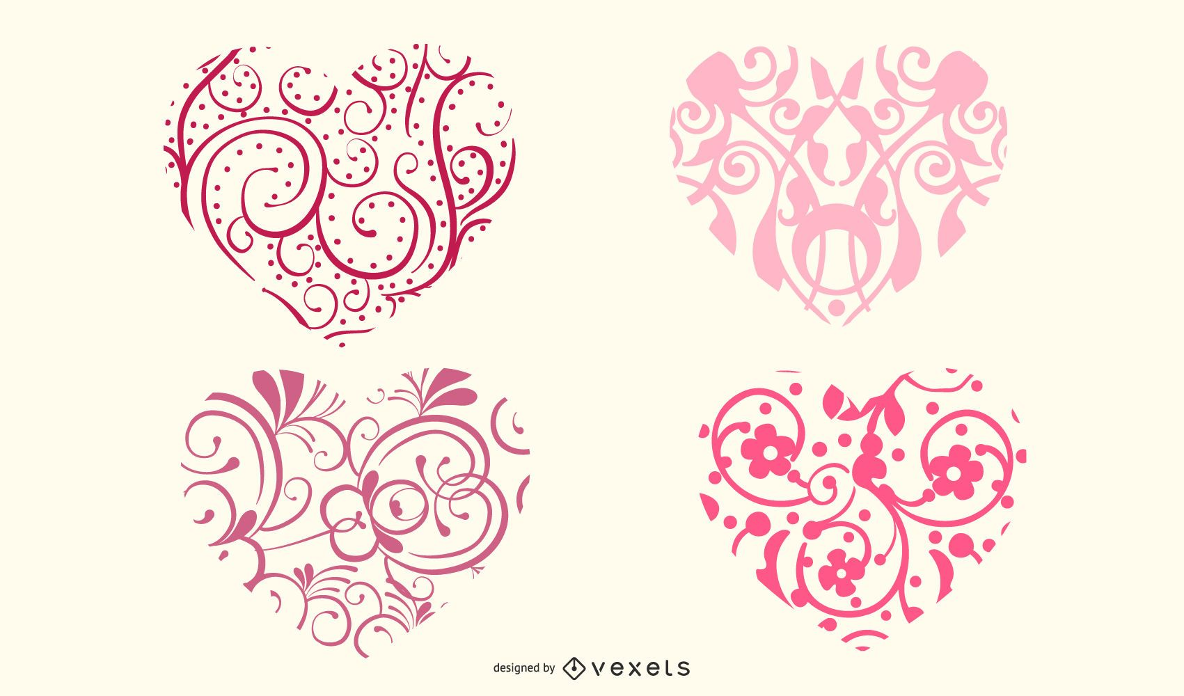 Ornamental heart shapes