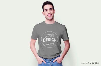 Maquete de modelo de camiseta