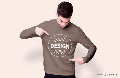 Sudadera boy diseño de maqueta