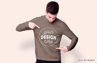 Sweatshirt boy mockup design