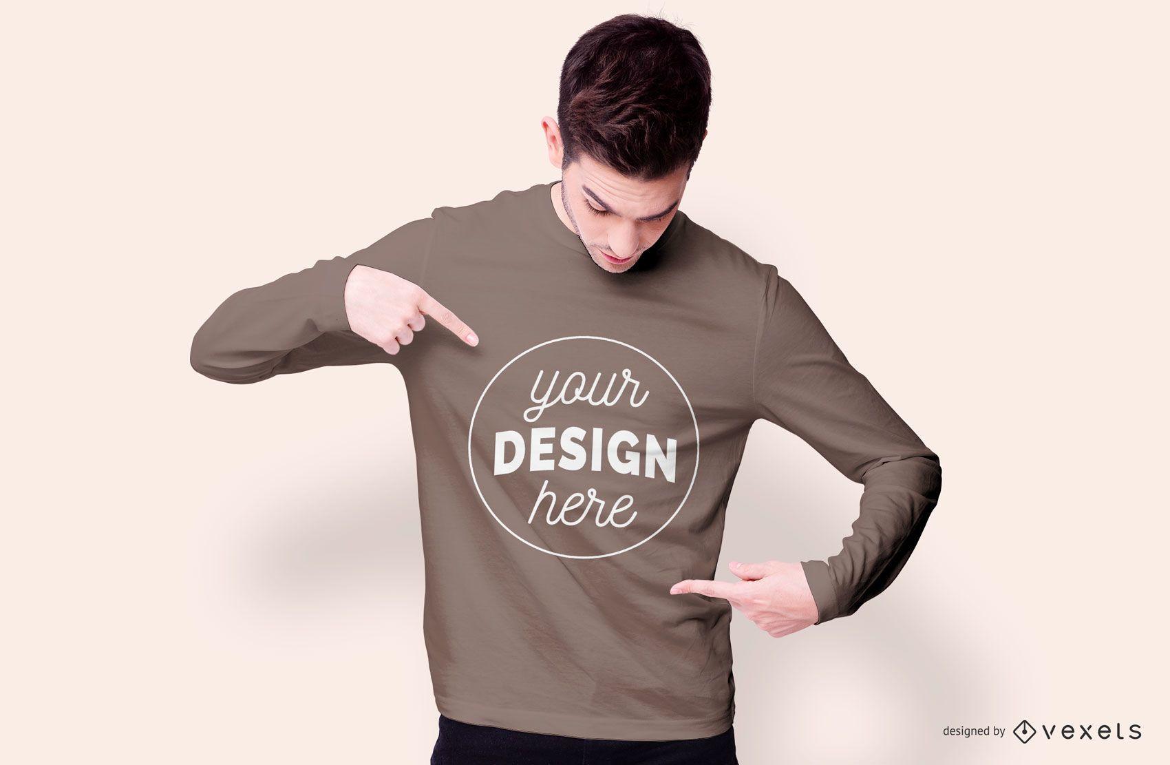 Design de maquete de moletom para menino