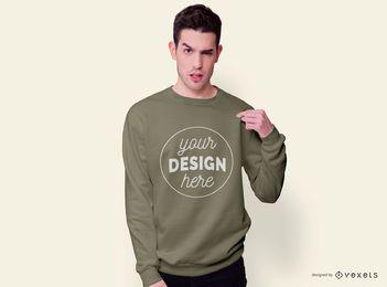 Sweatshirt Mann Modell