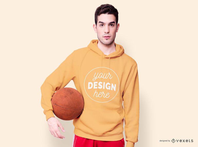 Basketball hoodie mockup