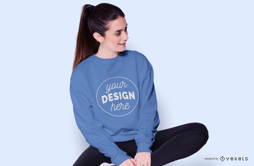 Sweatshirt woman mockup
