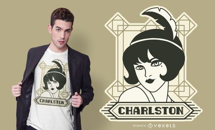 Vintage Girl T-shirt Design