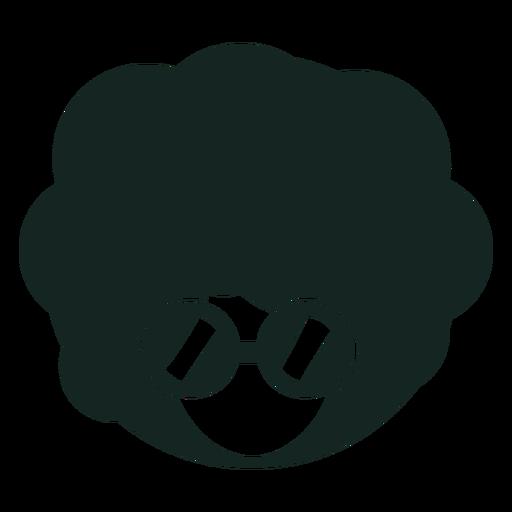 Silueta de gafas afro años 70 Transparent PNG