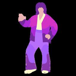 70er Jahre Disco bewegen sich flach