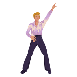 70er Jahre Disco Move Charakter