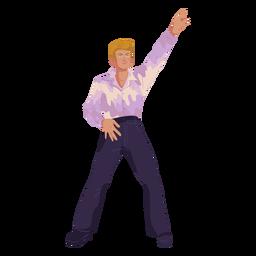Personaje de movimiento disco de los 70