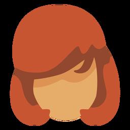 70er Jahre weibliche Frisur flach