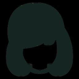 Trazo de peinado femenino de los 70