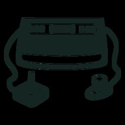 Curso do console de jogos dos anos 70