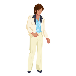 70s man outfit character