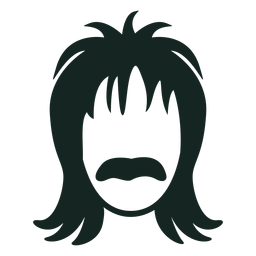 70s moustache hairstyle stroke