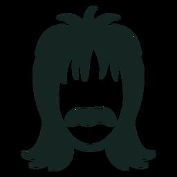 Trazo de peinado de bigote de los 70
