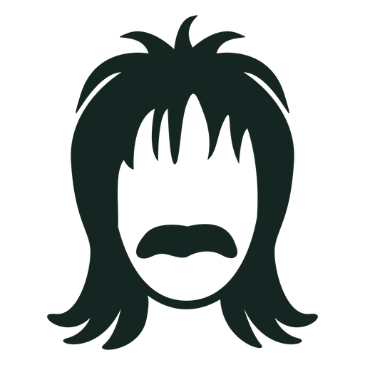 Trazo de peinado de bigote de los 70 Transparent PNG