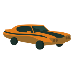 Carro do oldtimer dos anos 70 liso