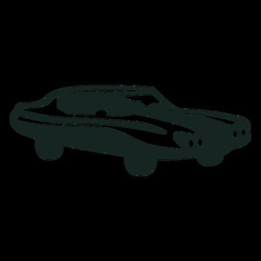 70s oldtimer car stroke Transparent PNG