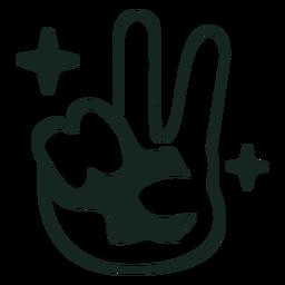 Trazo de signo de la paz de los 70