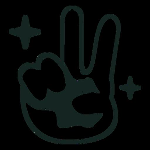 Trazo de signo de la paz de los 70 Transparent PNG