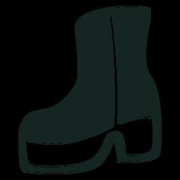 Plataforma dos anos 70, botas