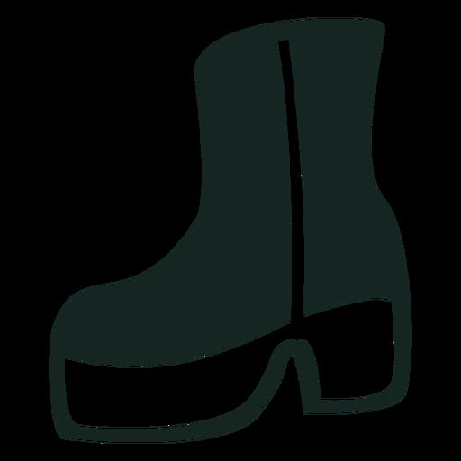 70s botas de plataforma golpe Transparent PNG