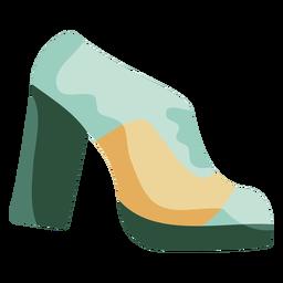 Sapatos de plataforma dos anos 70 planos