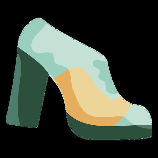 Sapatos de plataforma dos anos 70 planos Transparent PNG