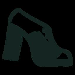 Sapatos de plataforma dos anos 70