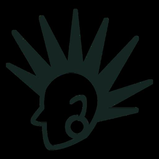 Trazo de peinado punk de los 70 Transparent PNG