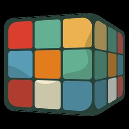 70s rubik's cube flat