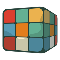 Cubo de rubik de los 70 plano