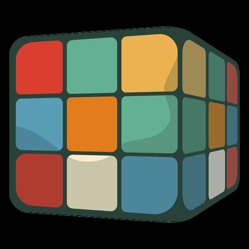 Cubo de rubik de los 70 plano Transparent PNG