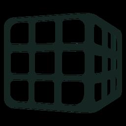 Golpe de cubo de rubik de los 70