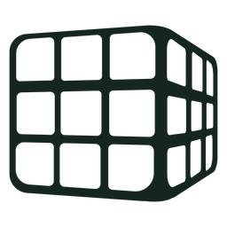 Trazo del cubo de rubik de los 70