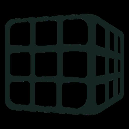 Trazo del cubo de rubik de los 70 Transparent PNG