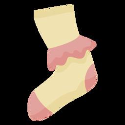 70er Jahre Socken flach