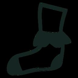 Trazo de calcetines de los 70