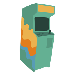70s video game machine flat