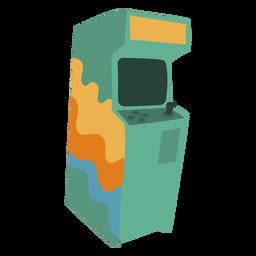 Máquina de videogame dos anos 70 plana